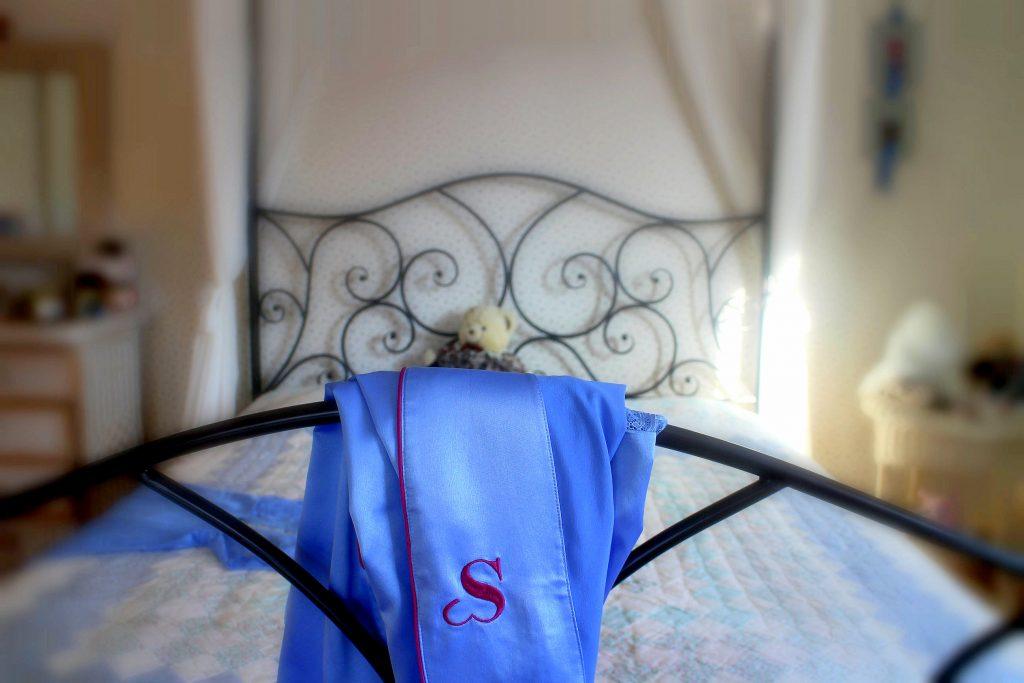 Sylvie Designs Flirty Lingerie pastel blue kimono