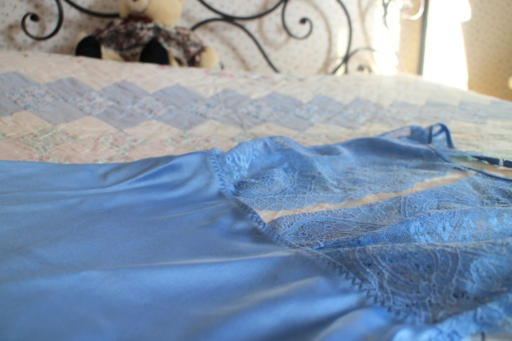 Sylvie designs blue night lace dress
