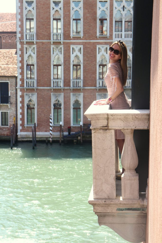 The Gritti palace balcony