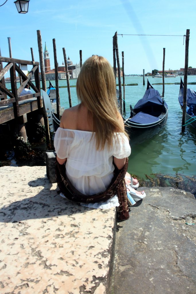 Venice gondolas view