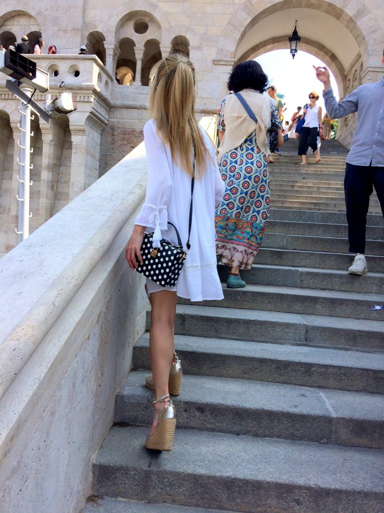 Budapest castle walk stairs
