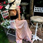 Roses garden lady
