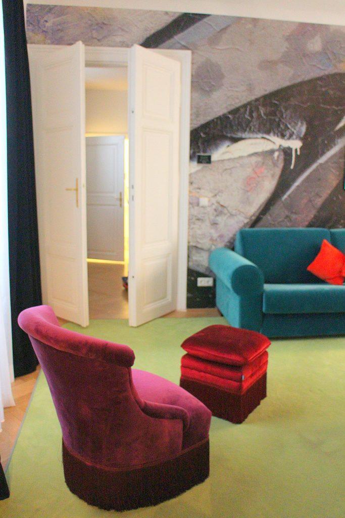 Grünangergasse Apartment color living room