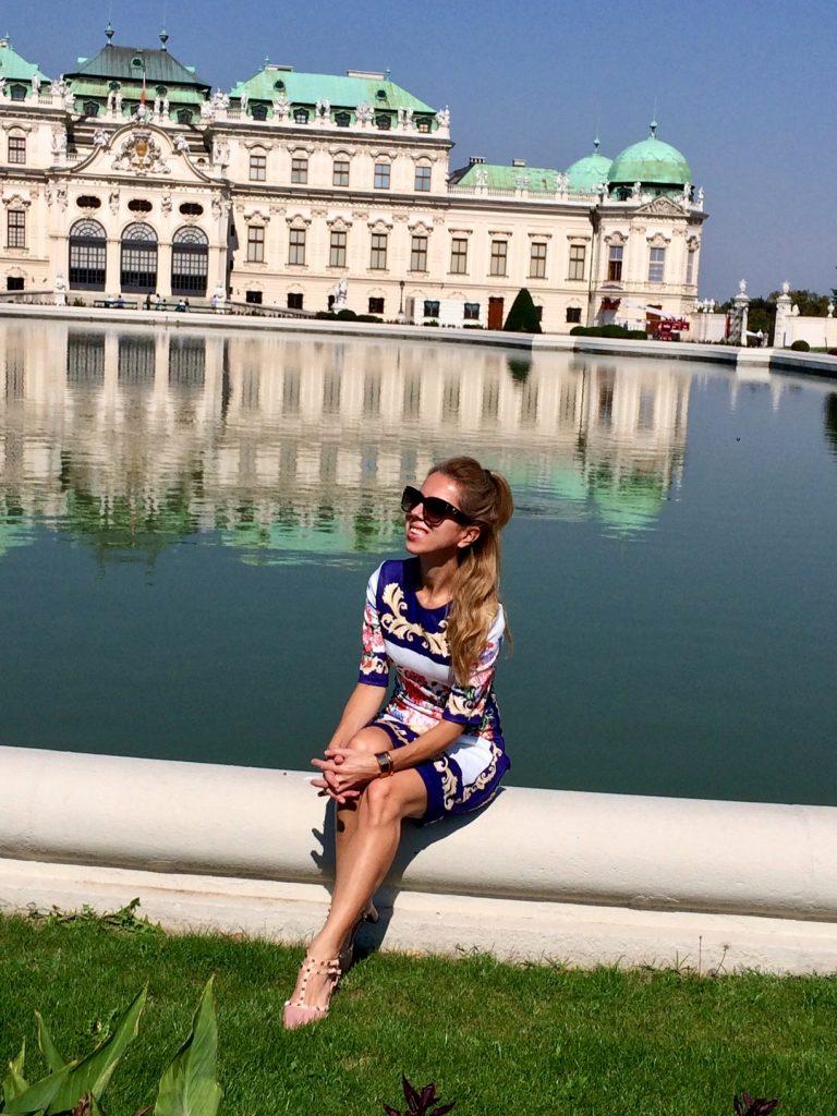 Palace Belvedere Vienna fountain