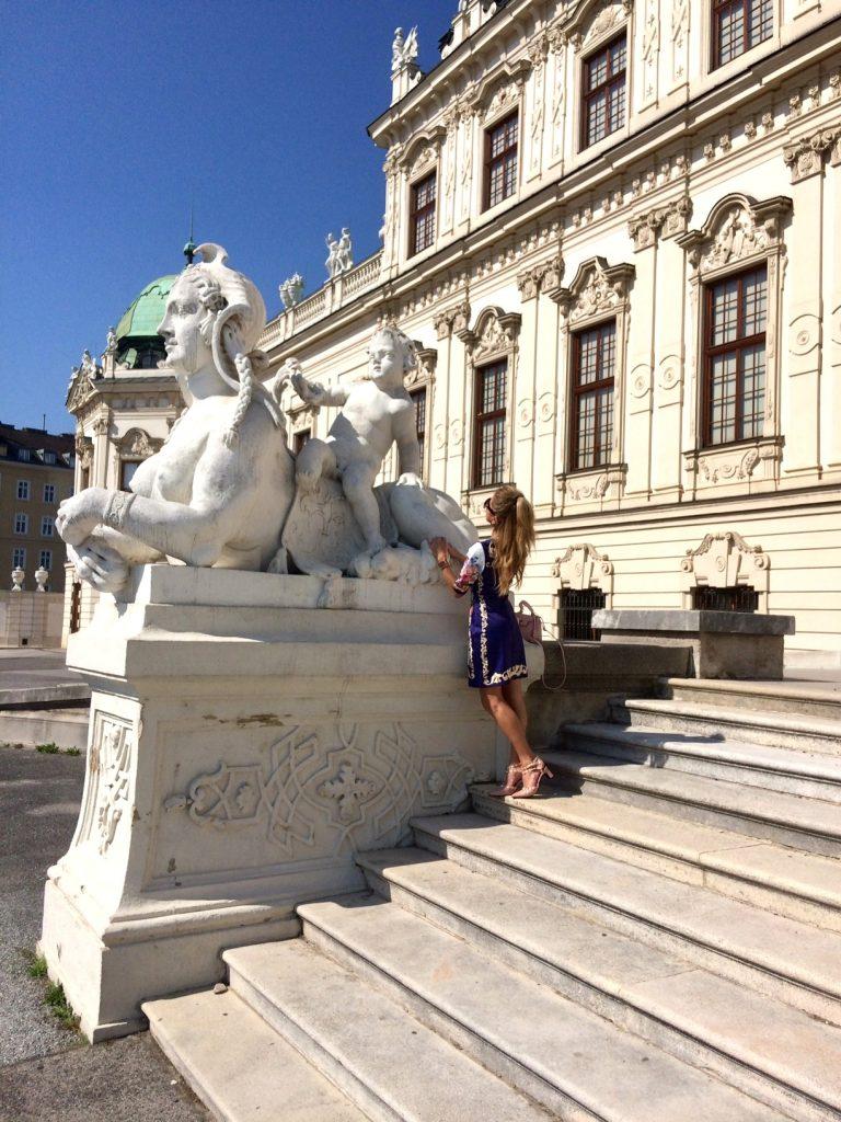 Palace Belvedere Vienna dress