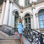 Hotel Palais Coburg Vienna blue dress