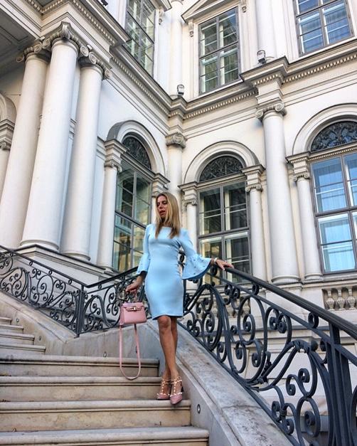 Hotel Palais Coburg Vienna blue dress