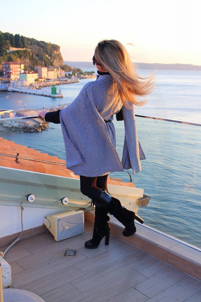 Hotel Piran chic lady sunset terrace